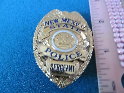 Vintage Obsolete New Mexico State Police Sergeant Badge