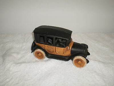 1920's Arcade Toy Cast Iron Taxi Cab With Driver Reproduction - Nice Clean Cast