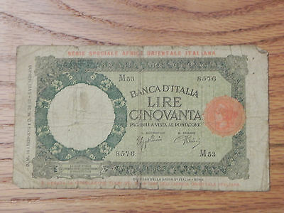 Italy, 50 Lire Note 1942 lot#45