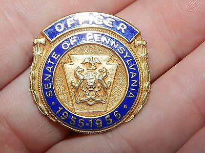 Antique Obsolete Officer Senate Of Pennsylvania 1955 -1956 Badge Pa State
