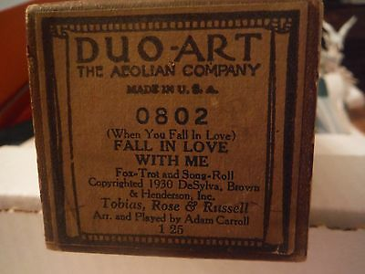 Duo-Art roll --Fall in Love With Me--fox trot--1930