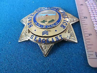 Vintage Obsolete Arizona State Capitol Police Sergeant Badge