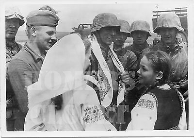 "World War 2 German Waffen Ss B&w Press Photo 5.25"" X 7""  **original**"
