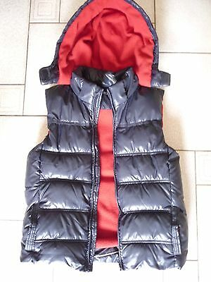 Lily And Dan Boys *blue* Hooded Puffer Vest Sz 12 Like New