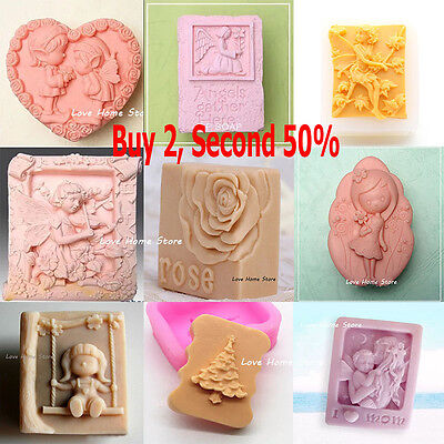 3D varies Soap Mould Candle Melt Hand Craft Silicone Cake Fondant Chocolate Mold