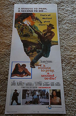 Minute To Pray A Second To Die  Alex Cord  Bama Art  Western  Insert  1968