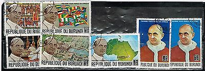 (12-798) 7 Cancelled Paul VI vist to Africa Postage sTtamps  from Burundi