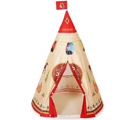 Children Kids Home Play Tent Red Cloth Indoor Dollhouse Playhouse Gift Toy .