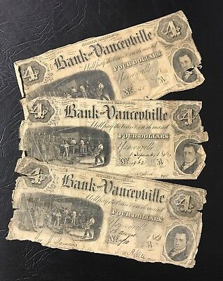 Bank of Yanceyville $4.00 North Carolina Obsolete Note