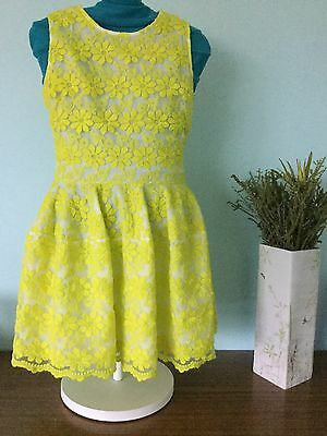 Witchery 8 Fourteen Girl Sz 14 Lace Dress Like New Condition
