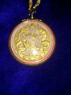 Beautiful Powerful Magic Jatukham Ramthep Thai Amulet Pendant Lucky Life Success