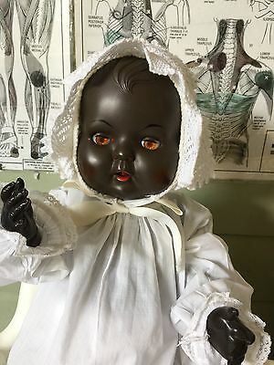 Rare 20.5 Inch/52Cms  Black Kader Baby Doll. Amber Sleep Eyes Working Mama Box