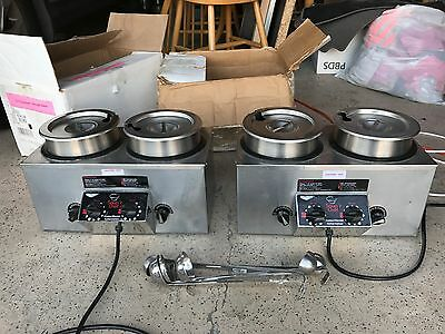 Vollrath Soup'r Chef Food Warmer Cooker Commercial Model TW665 Lot of 2 Pair