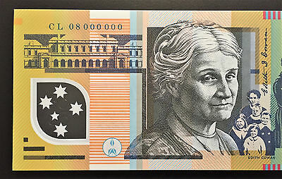 Australia $50 SPECIMEN SERIAL Note ** CL08 000000 **  SUPERB UNC!! 1 of Only 40