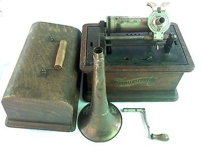 Antique Columbia Graphophone Model BK Cylinder Player Phonograph Needs Repair