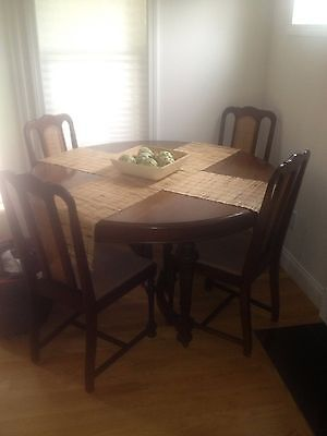 Antique Walnut Dining Set from the 1930s...NO RESERVE!!