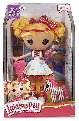 Lalaloopsy Spot Splatter Splash Large Doll With Brushable Hair **mib**