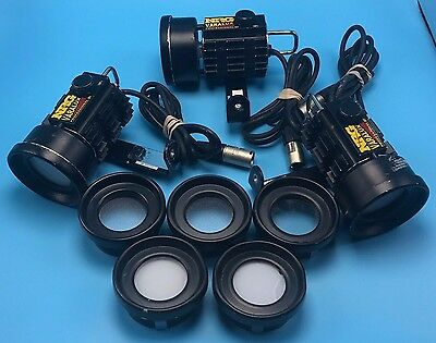 SET OF 3 NRG Varalux Pro Professional Camera Camcorder Light with Dimmer Extra's