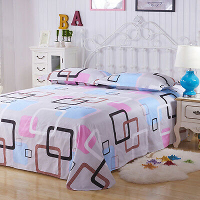 Floral Color Printed Flat Sheets Soft Comfort Cotton Bed Sheets Queen Sizes