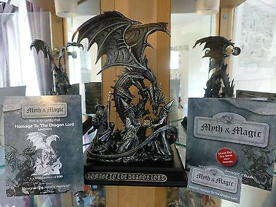 Myth and Magic - 3410 Homage to the Dragonlord  NEW Large Tudor Mint Ltd Edition