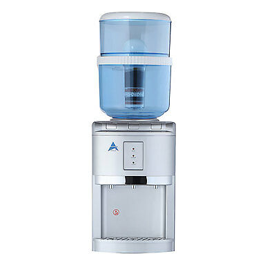 New Silver  Awesome Water Filter Cooler Purifier Dispenser Hot Cold Benchtop