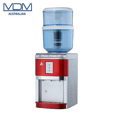 New Red Benchtop Water Cooler Purifier Dispenser Hot Cold & Ambient Awesome