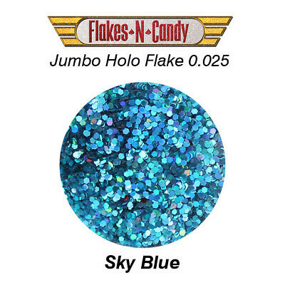 METAL FLAKES GLITTER JUMBO MONSTER (0.025) METAL FLAKE 30g Holographic Sky Blue
