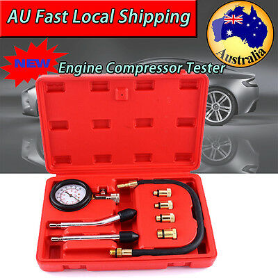 Petrol Engine Compression Tester Kit Set for Automotive Car Gauge Tool AU Stock