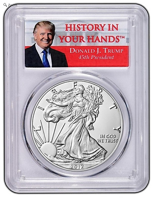 2017 W Pcgs Sp69 Burnished Silver Eagle Ms69 69 First Strike Trump Presale
