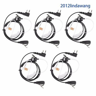 Lot 5 Earpiece Earphone Headset for ICOM IC-F1000D IC-F2000D V80 U80 G80 Radio