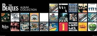 """The Beatles Album Collection 36"""" x 12"""" poster of all of The Beatles album covers"""
