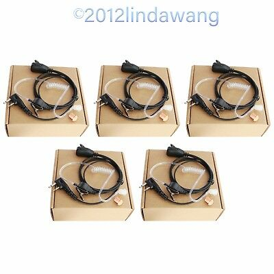 Lot 5 Earpiece Earphone Headset for ICOM IC-F4000 F4001 F4002 F4021 F4022 Radio