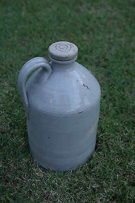 Antique Stone Jug With Screw-Top Lid