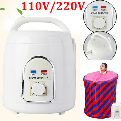 110V/220V Portable Pot Steam Sauna Home Steamer Spa Skin Bath Steam Saunas 1.8L