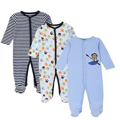 3 PCS Mother Nest Baby Romper Long Sleeves 100% Cotton Baby Pajamas for newborn