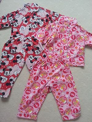 Pre-Loved Girl's Size 3 Winter Flannel Pj's, Great Used Condition