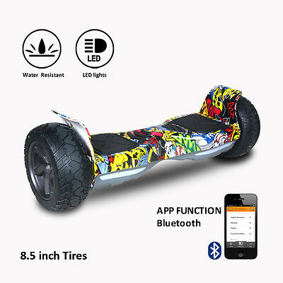 "8.5""Scooter Eléctrico  Patinte Bluetooth off-road APP self balancing Regalo"