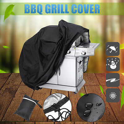 Waterproof BBQ Cover Garden Outdoor Barbecue Grill Storage Rain Dust Durable AU
