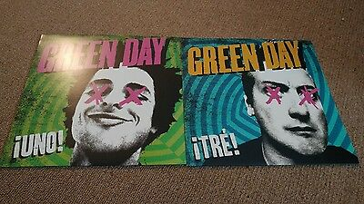 Green Day Vinyl Lot Uno and Tre