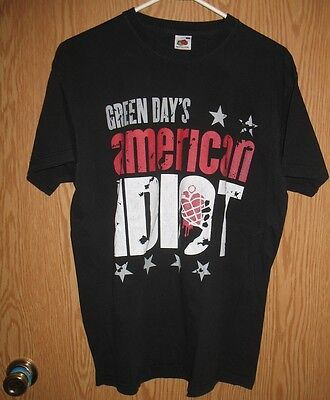 Green Day - 2012 American Idiot Tour Concert T-Shirt (Large)