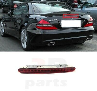 Silver Chrome SL350 Rear Boot Badge Emblem Letter Number Compatible For SL Class R230 R231 AMG