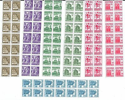 Collection of Mint Italy Stamps in Strips