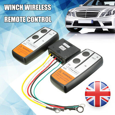 Twin Handset Wireless Winch Remote Control Switch 24V 24 Volt Uk