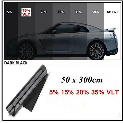AU 15% VLT 50cm*3m Roll Home Glass Window Tint Film Black Pro Car Auto Tinting