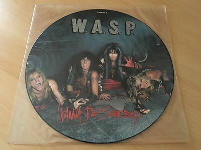 """I Wanna Be Somebody - W.A.S.P. (1984, 12"""" Picture Single, 12CLP 336-B)"""