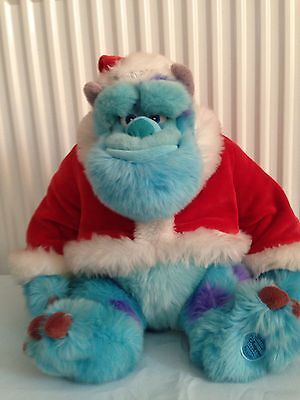 Disney Store Exclusive, Sulley From Monsters Inc Christmas Santa Plush/soft Toy