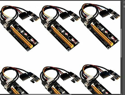 New 6 PCS USB 3.0 Pcie PCI-E Express 1x To 16x Extender Riser Card Adapter Cable