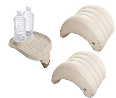 value pack for Intex PureSpa Whirlpools 2 x Headrest 28501, Storage tray 28500