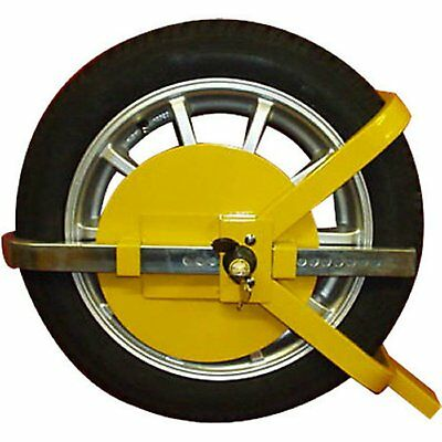 "Heavy Duty 13"" -15"" Steel Car Van Wheel Clamp Safety Lock for caravan Trailer"