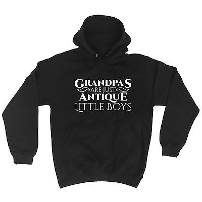 Grandpas Are Just Antique Little Boys Funny Joke Old Comedy HOODIE Birthday Cool